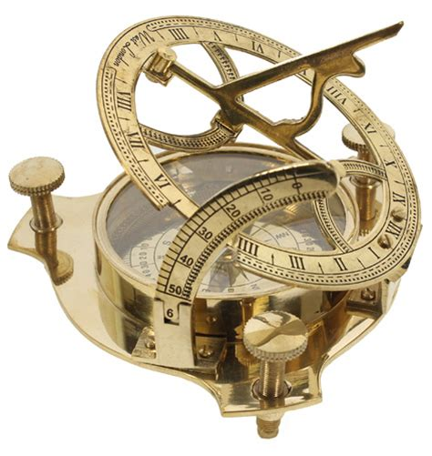 4 brass sundial compass with nautical box