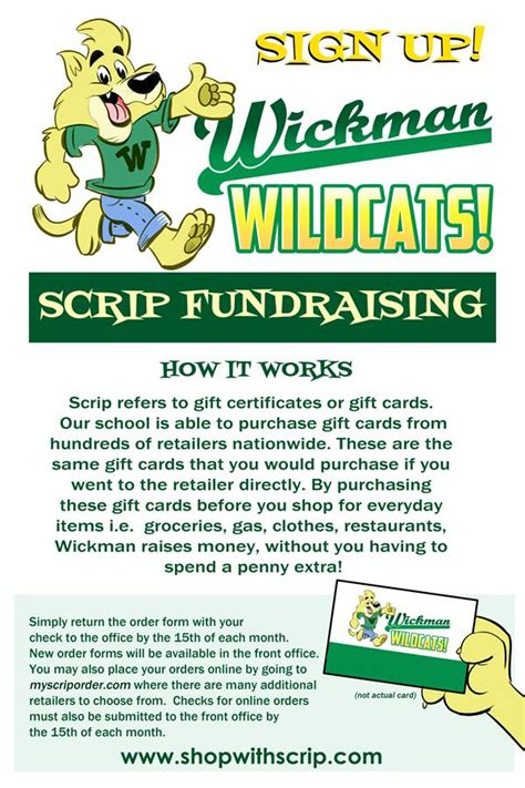 Scrip Gift Card List - pto scrip fundraiser