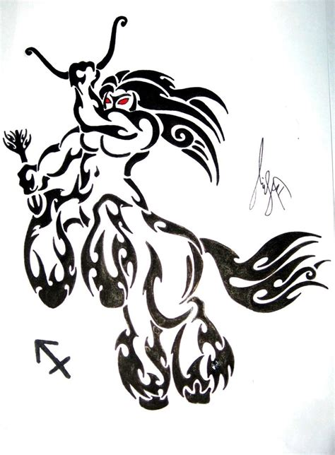 tribal sagittarius tattoo designs sagittarius tribal designs best design