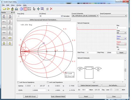 series inductor smith chart using agilent ads smith utility for impedance matching