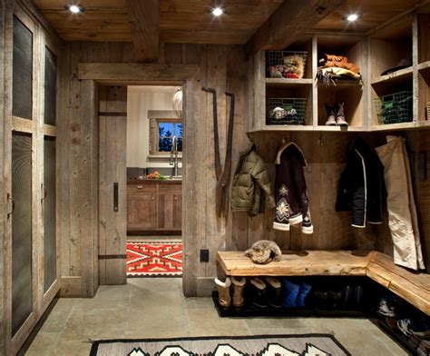 mudroom laundry room rustic entry other metro by
