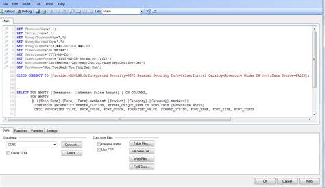 format date qlikview script تصویر زیر نحوه قراگرفتن قطعه کدهای بالا در محیط اسکریپت