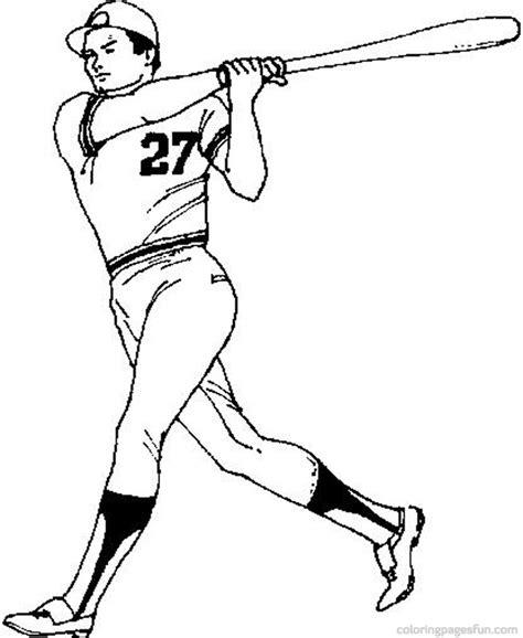 coloring pages free printable baseball baseball player coloring page az coloring pages