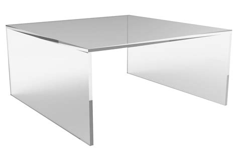 square acrylic coffee table brickell square coffee table acrylic from one