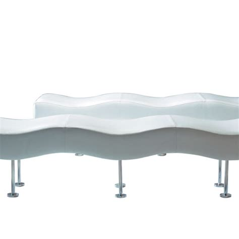 curved leather bench ultra modern white leather steel curved bench ambience dor 233