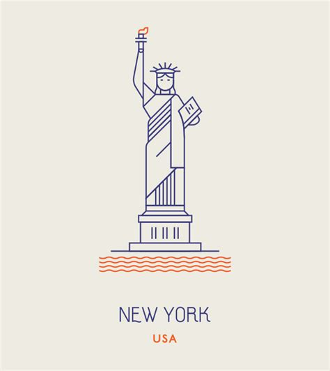 icon design nyc world landmarks line icons by makers company