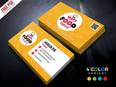 4 side free psd business card templates actions restaurant business card free psd bundle by psd freebies