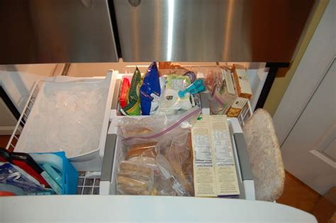 How To Organize Bottom Freezer Drawer by 17 Best Images About Organizing Kitchen On