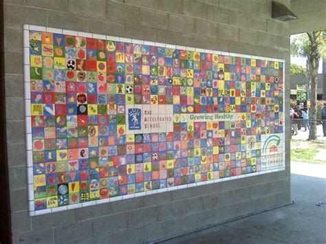 Wall Art Mural the accelerated school tile mural