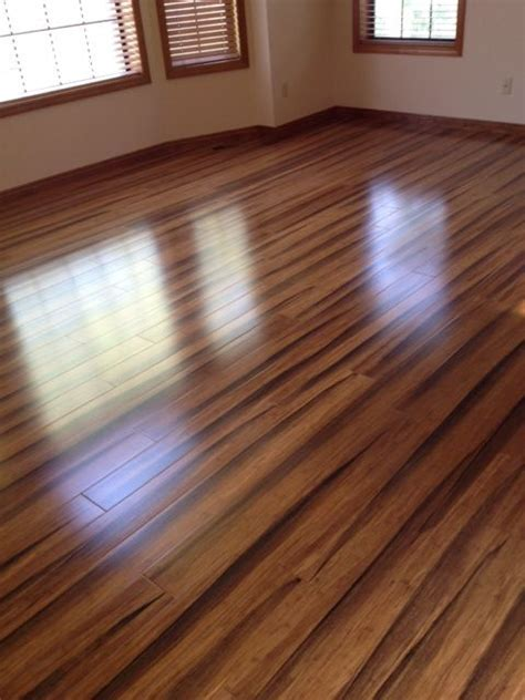My new Brazilian Tiger Wood Bamboo floors   Home Remodel