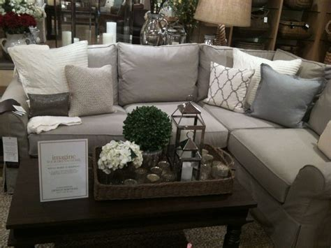Family Room With Sectional Sofa Living Room Sofa Pottery Barn Sectional Pillows Family Rooms Pottery Barn