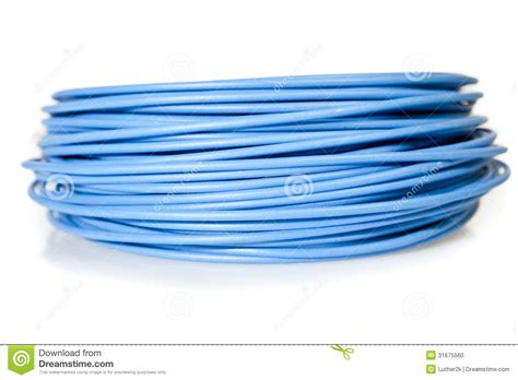 blue cable with db9 connector royalty free stock