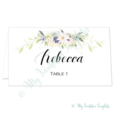 1000 Ideas About Place Card Template On Pinterest Wedding Program Templates Engagement Free Place Card Templates