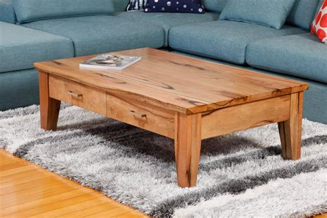 Two Drawer Solid Marri Or Jarrah Timber Coffee Table Coffee Tables Perth Wa