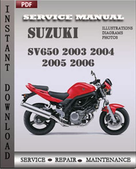 Suzuki Sv650 Owners Manual Suzuki Sv650 2003 2004 2005 2006 Service Manual