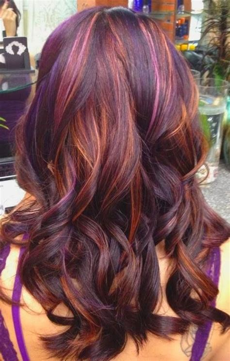 multicolour highlights multi color hair highlights in 2016 amazing photo