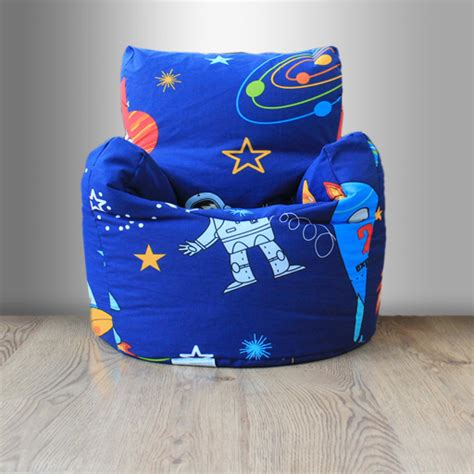 Bedroom Bean Bag Chair | children s beanbag chair space boy planet rocket kids