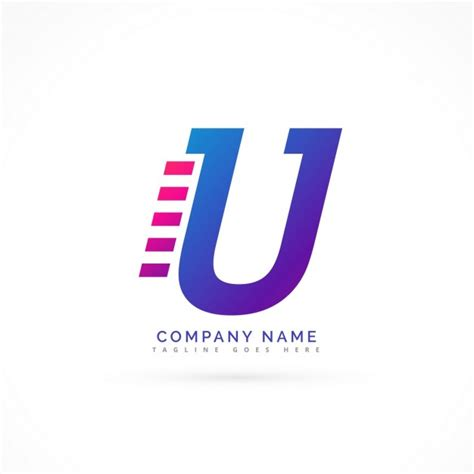 edit name logo logo with the letter u vector free