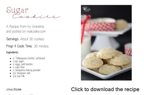 printable recipes for sugar cookies sugar cookies an old fashioned recipe