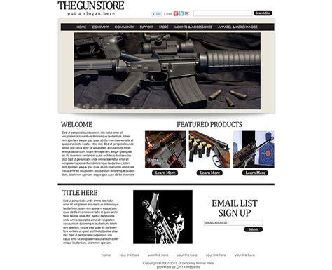 Gun Store Website Templates Rain Retail Gun Shop Website Template