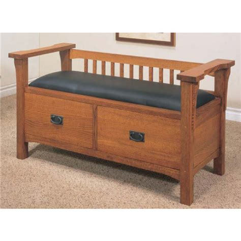 oak storage bench seat misc mission storage bench