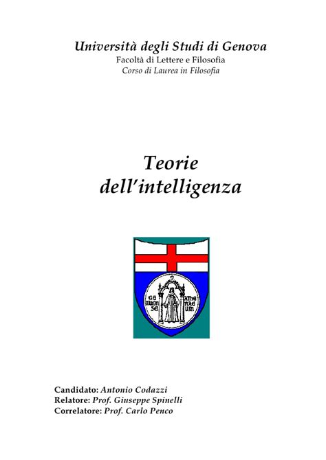 teorie dell intelligenza