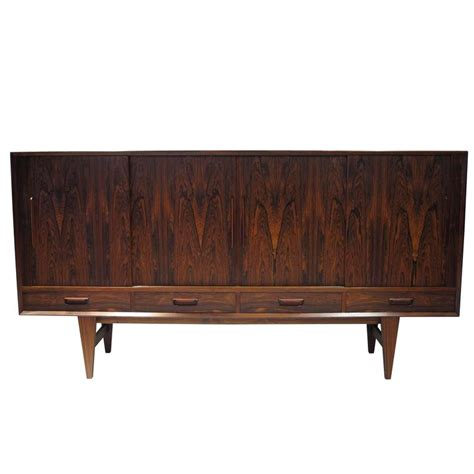 Credenza Bar rosewood sideboard credenza with bar for sale at 1stdibs