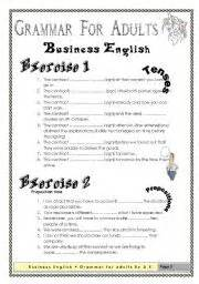 grammar for adults business english