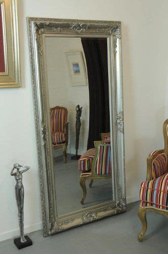 extra large full length antique silver mirror beautiful