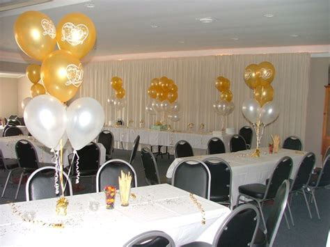 simple table decorations 50th anniversary