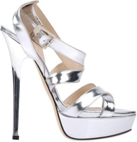 jimmy choo silver sandals jimmy choo sandals in silver lyst