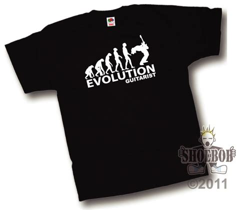 evolution of a guitarist t shirt new evolution of