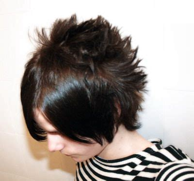 longer hairstyles in the front and spikey in the back long in front but spiked in back young girl hairstyles