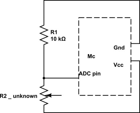resistor divider adc voltage divider with adc electrical engineering stack exchange