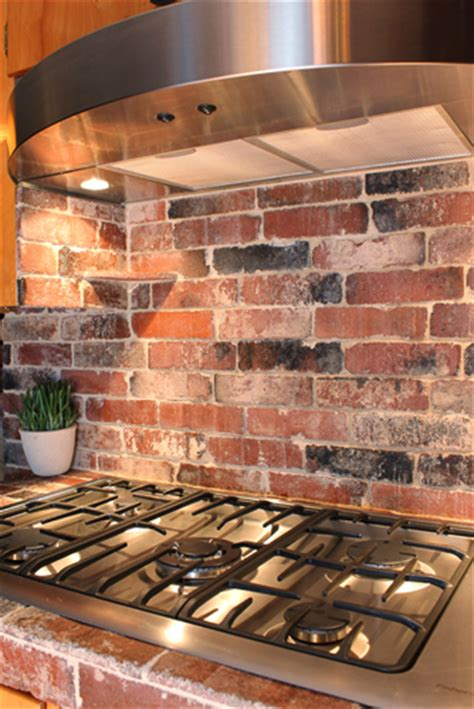 Kitchen Brick Backsplash by Photos Of Vintage Brick Veneer