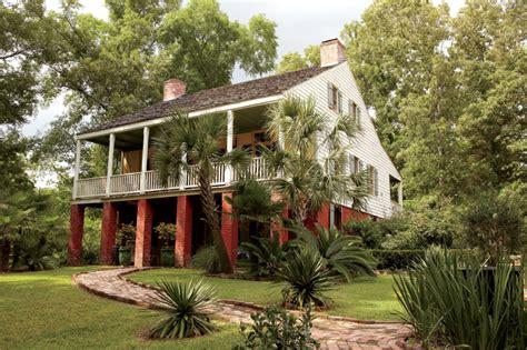 on the bayou step inside a house on the bayou garden gun