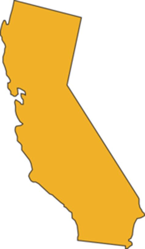 california state color california state yellow clip at clker vector