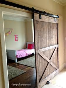 Building Sliding Barn Doors Installing A Sliding Barn Door How Easy Is It Simplykierste