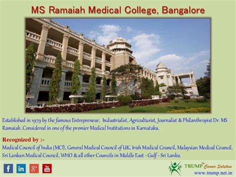 Ms Ramaiah Mba College Bangalore by Ms Ramaiah College Management Quota Mbbs Admission