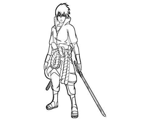 sasuke uchiha 10 coloring crafty teenager