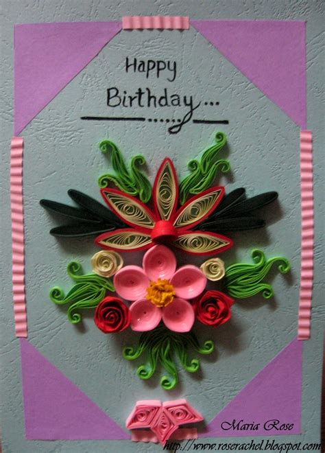 How To Make Paper Quilling Cards - quilled birthday card quilled birthday cards