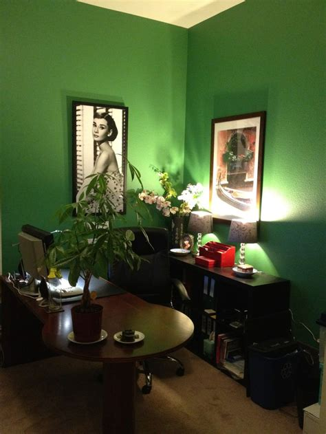 Wonderful Feng Shui Living Room Decorating #5: Bunker-Green-Office-benjamin-moore-paint.jpg