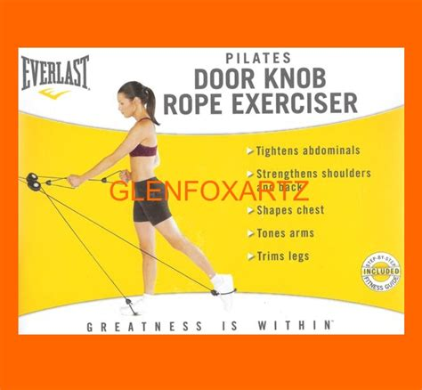 Door Knob Exerciser by Everlast Door Knob Fitness Pilates Rope Exerciser Ebay