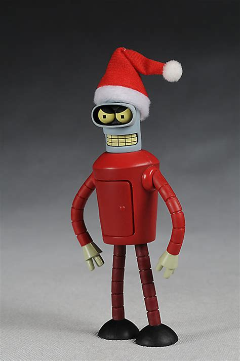 futurama christmas ornaments futurama robo santa and santa bender figures another pop culture collectible review by