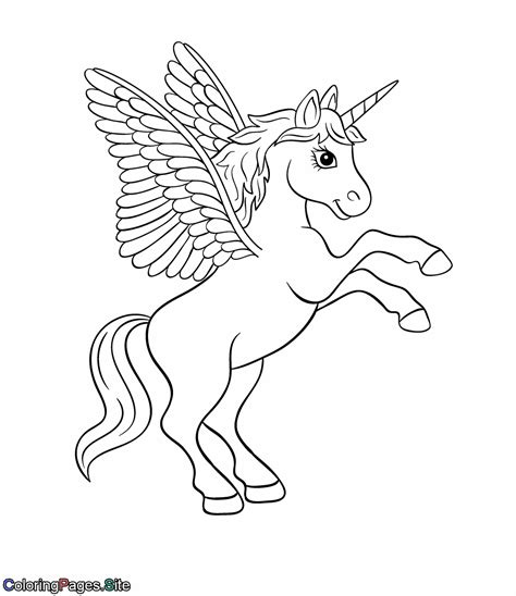 coloring pages unicorn with wings wings unicorn coloring page