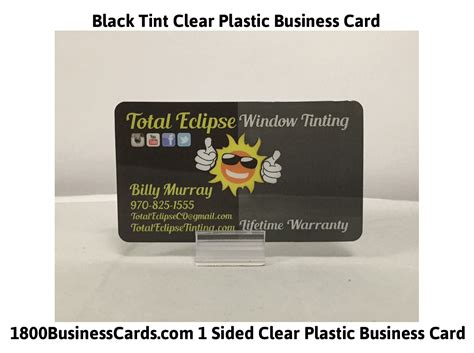 Clear Business Card Template by Black Clear Business Cards Image Collections Card Design
