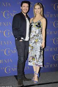 Lily James Stuns As She Promotes Cinderella With Richard