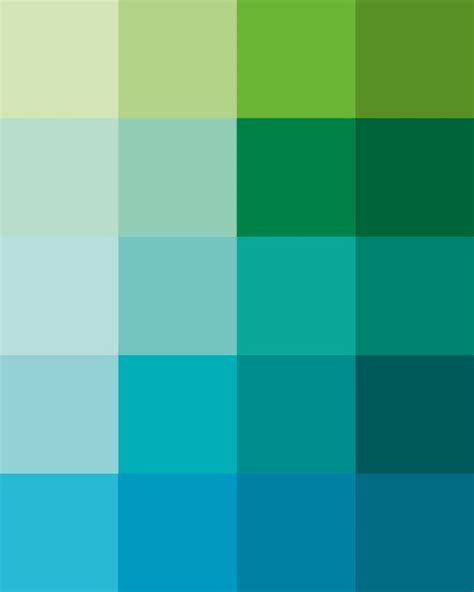 mint green pantone shades dew art print pantone color blocks of mint green