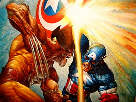 Captain America Vs Wolverine Wallpaper | wolverine was the weakest of the x men page 3 rapmusic com
