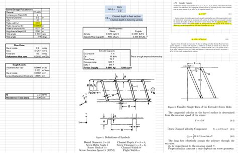 design formula auger screw calculation images